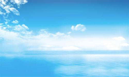 Фотообои очень голубое небо облака (sky-0000117)