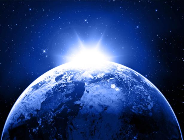 Фотообои космос восход (space-0000019)