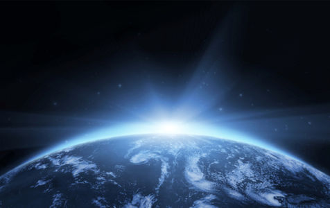 Фотообои солнце за планетой (space-0000020)
