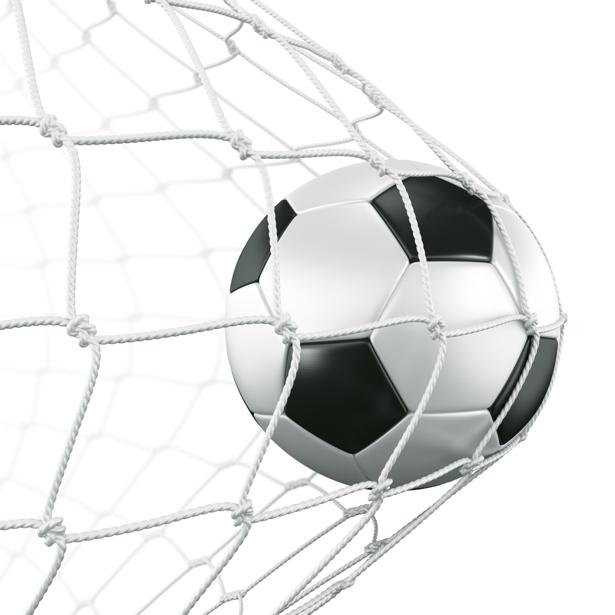 Фотообои футбоьный мяч в сетке (sport-0000029)