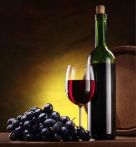 Фотообои фото черный виноград вино (still-life-0011)