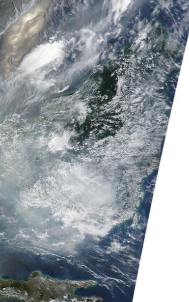Фотообои на заказ аэрофотосъемка NASA (terra-00157)
