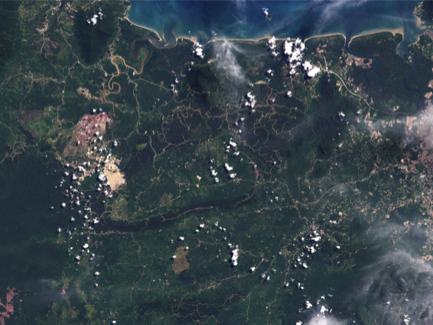 Фотообои NASA территория (terra-00281)