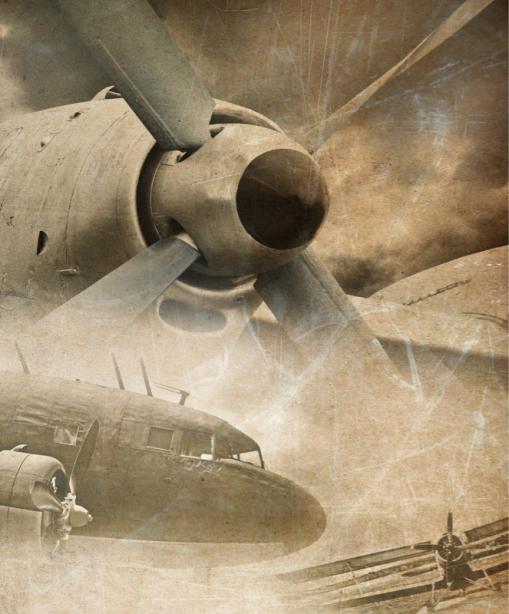 Фотообои старый самолет (transport-0000244)