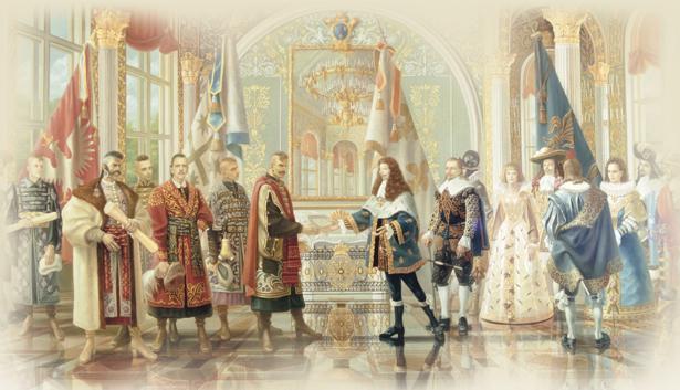 Прием украинских полководцев при французском королевском дворе (ukraine-0069)