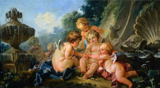 Картина фреска амуры и ангелочки (angel-00039)