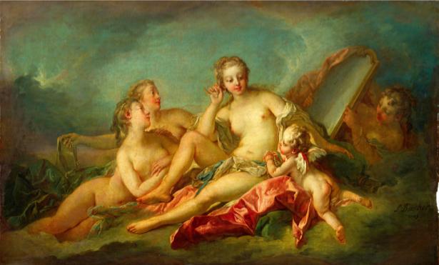 Картина фреска Рождение Венеры (angel-00050)