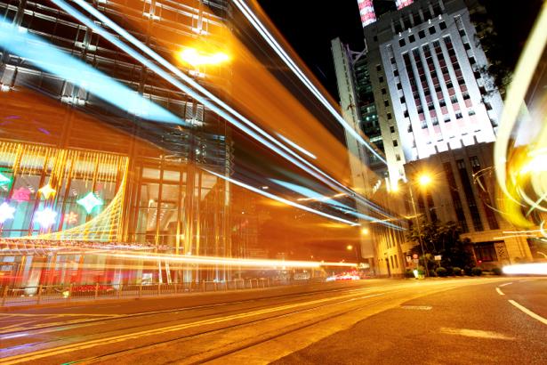 Фотообои Ночной мегаполис, мост, дорога (city-0000286)