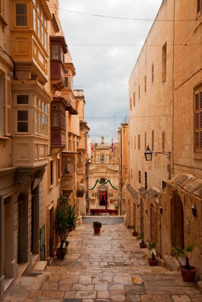 Фотообои Мальта улица в старом городе (city-0000318)