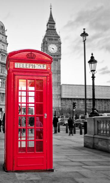 Фотообои Лондон телефонная будка (city-0000553)