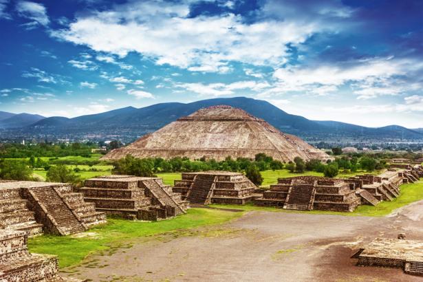 Фотообои мексиканские пирамиды (city-0000990)