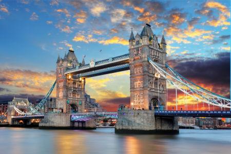 Фотообои Лондон Тауэрский мост закат (city-0001250)