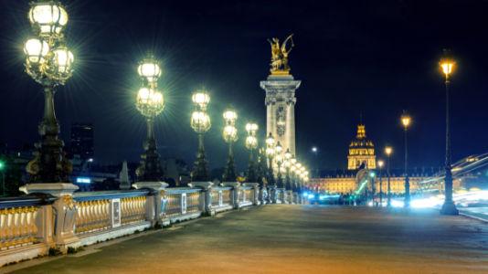 Фотообои Ночной Париж Франция (city-0001302)