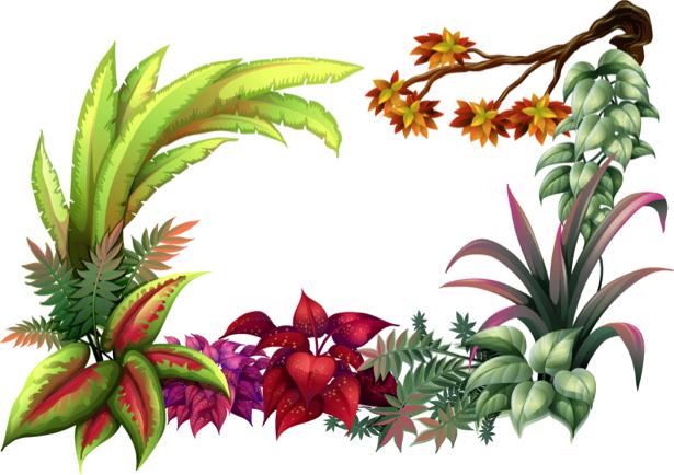 Обои на стену векторные растения (flowers-0000608)