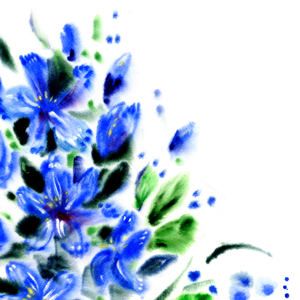 Цветок обои Акварельные цветы (flowers-0000702)
