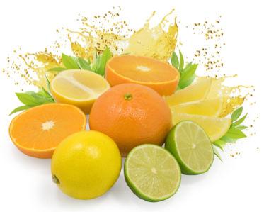 Фотообои кухня в брызгах сока апельсин (food-0000193)
