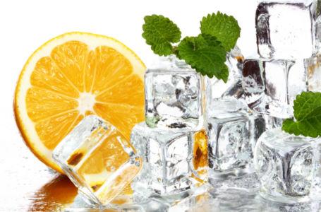 Фотообои кухня апельсин во льду (food-0000290)