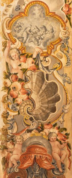 Фотообои фреска с ангелами и цветами (fresco-009)