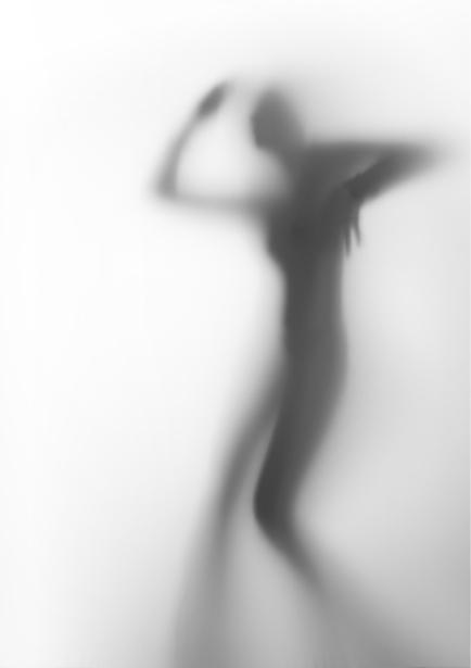 Фотообои в контражуре фигура девушки (glamour-0000164)