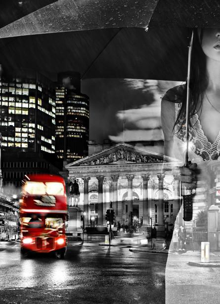 Фотообои Дождь в Лондоне (loft-21)
