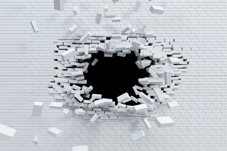 Фотообои Дыра в кирпичной стене (loft-22)