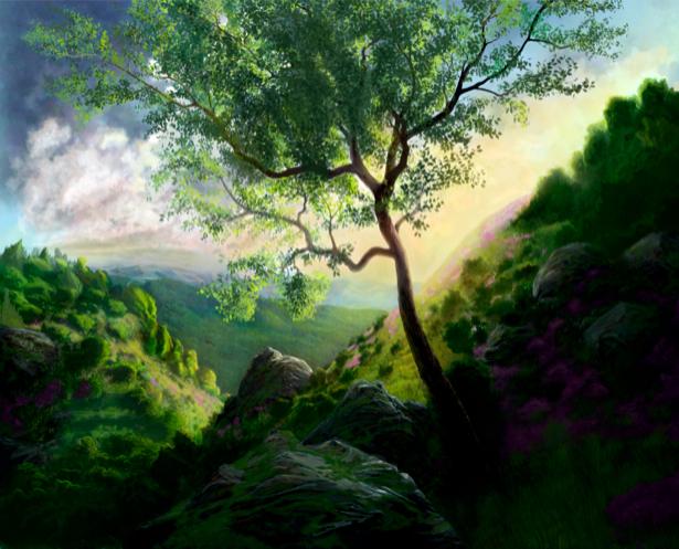Фотообои виды природы горный пейзаж (nature-00061)
