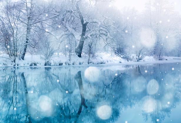 Фотообои виды природы река зимой (nature-00081)