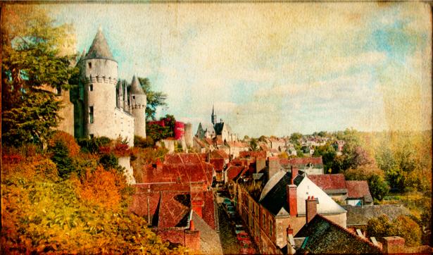 Фотообои город замок крыши (retro-vintage-0000129)