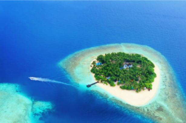 Фотообои море остров вид сверху (sea-0000039)