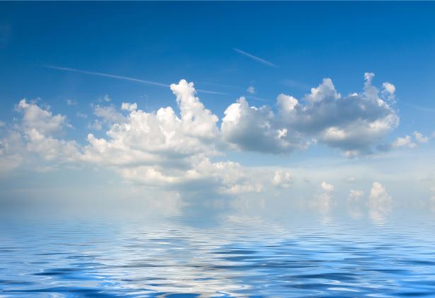 Фотообои морская гладь отражение неба (sea-0000360)