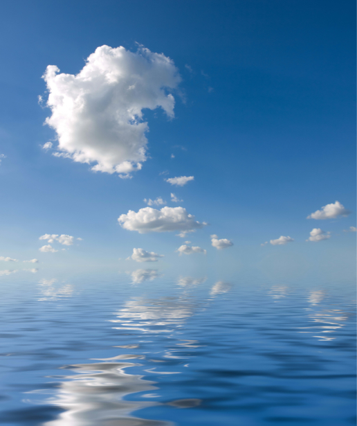 Фотообои море облака с отражением (sea-0000361)