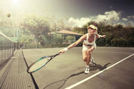 Фотообои женский теннис (sport-0000154)
