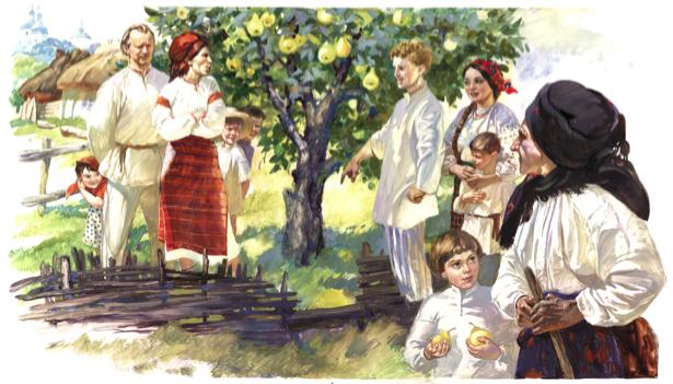 Иллюстрации к произведению И. Нечуй-Левицкого - Кайдашева семья (ukraine-0163)
