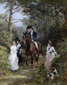 Фотообои Романтическая прогулка на лошадях (art-0000753)