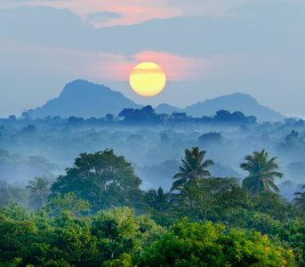 Фотошторы Шри-Ланка восход (bedroom-curtain-00011)