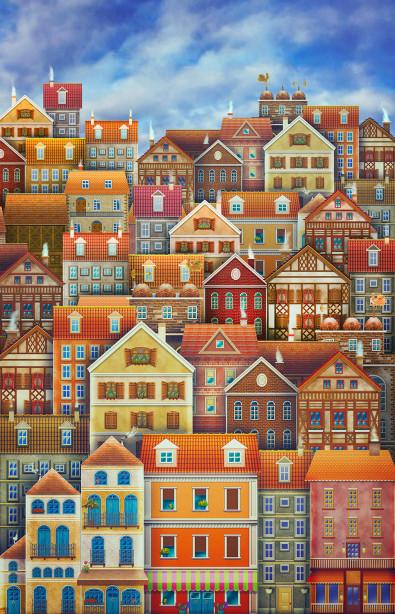 Фотообои городские домики (child-435)