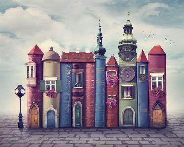 Фотообои книжный город (child-451)