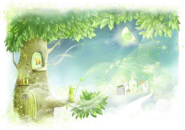 Детские фотообои сказочное дерево (children-0000220)