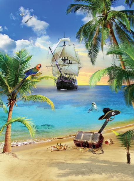 Детские фотообои пиратский корабль (children-0000223)