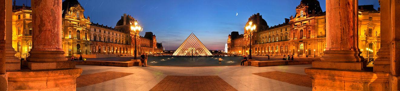 Фотообои париж пирамида лувр (city-0000065)