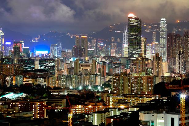 Фотообои Гонконг, здания, город (city-0000197)