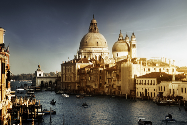 Фотообои канал в Венеции, Венеция, Италия, (city-0000415)