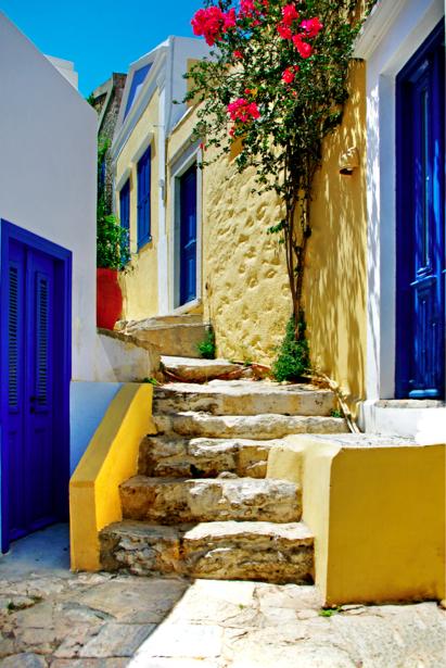 Фотообои Греция лестница Европа (city-0000622)