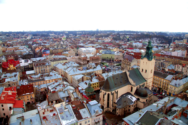 Фотообои Львов собор, костел (city-0000641)