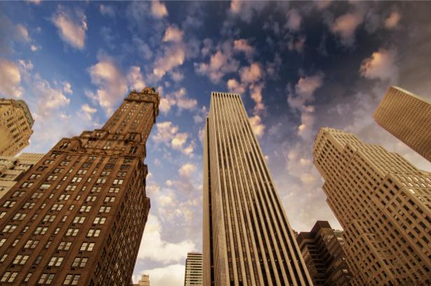 Фотообои небоскребы вид снизу (city-0000791)