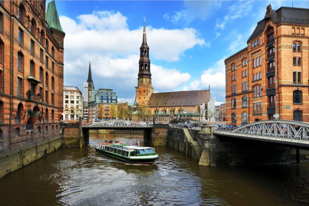 Фотообои гамбург каналы (city-0001093)