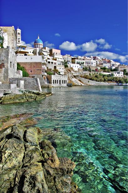 Фотообои Остров Сирос Греция (city-0001192)