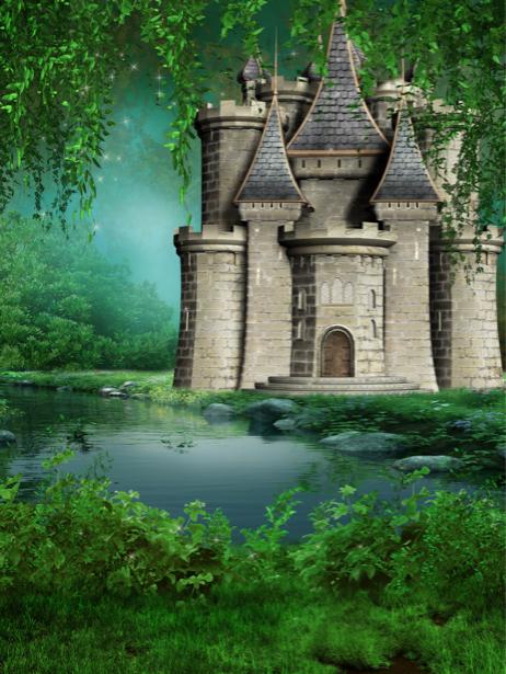 Фотообои в детскую замок в лесу (fantasy-0000146)