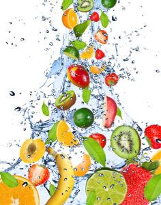 Фотообои для кухни в брызгах воды (food-0000107)