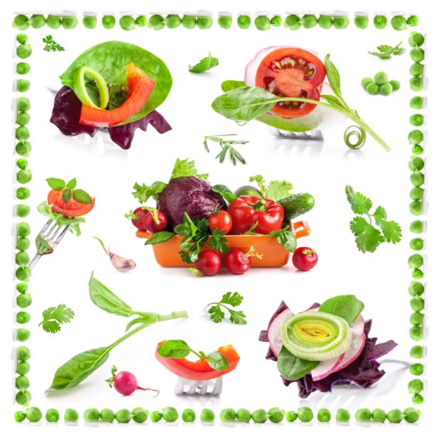 Фотообои кухня коллаж из овощей (food-0000260)